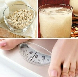 agua de avena para bajar de peso